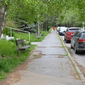 Chodník pri zariadení pre seniorov Krivánska ulica