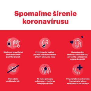 Spomaľme šírenie koronavírusu