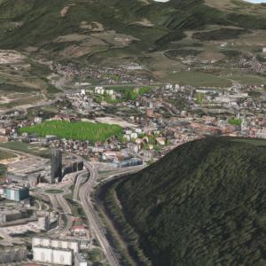 3D model mesta Banská Bystrica, LOD2/3 textúry