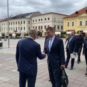 Rokovanie primátora Jána Noska s ministrom dopravy a výstavby Andrejom Doležalom