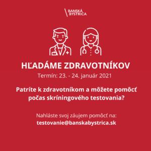 Výzva zdravotníkom január 2021