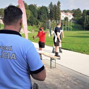 Inline rekord i za účasti mestských policajtov