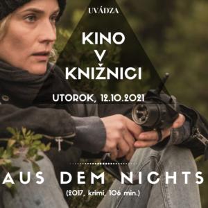 Plagat Kino v kniznici oktober 2021