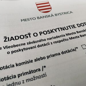 Podávanie žiadostí o dotácie